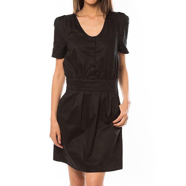 Dámské černé šaty s krátkým rukávem My Little Poesy