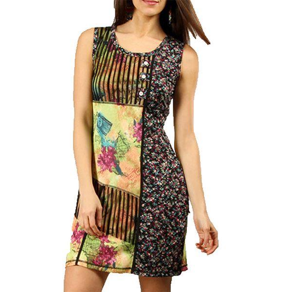 Dámské barevné šaty bez rukávů Squise