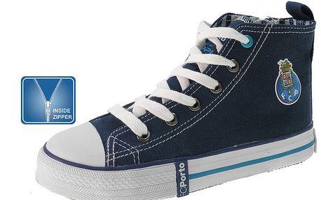 Dětské modré kotníkové boty se zipem Beppi