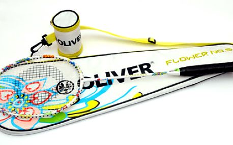 EXKLUZIVNĚ: badmintonová raketa Flower No. 5 za neodolatelných 399 Kč! K tomu navíc celoobal, 2 košíky a obal na košíky!