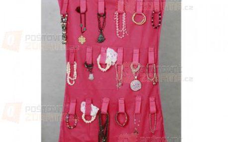 Organizér na šperky a cennosti-růžový a poštovné ZDARMA s dodáním do 3 dnů! - 29611622