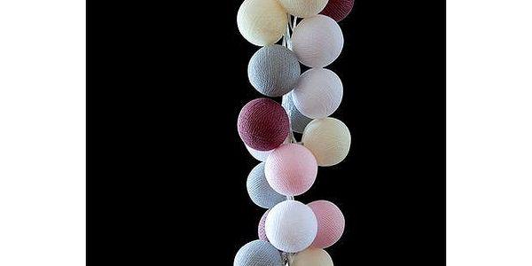 Světelný řetěz Marshmallow, 35 ks světýlek