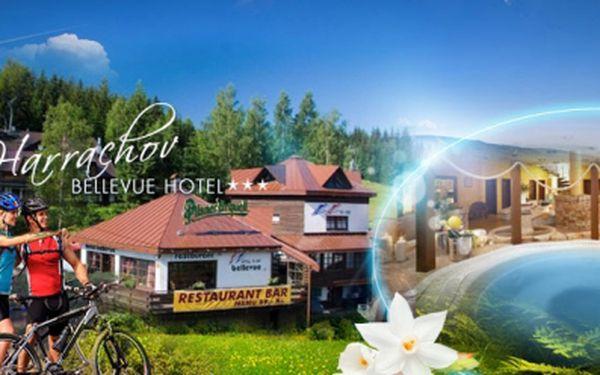 Cenová bomba! Harrachov, hotel bellevue*** až na 4 dny s polopenzí a wellness jen za 1490 kč pro dva! Neomezeně wellness a římské lázně! Platnost do prosince!