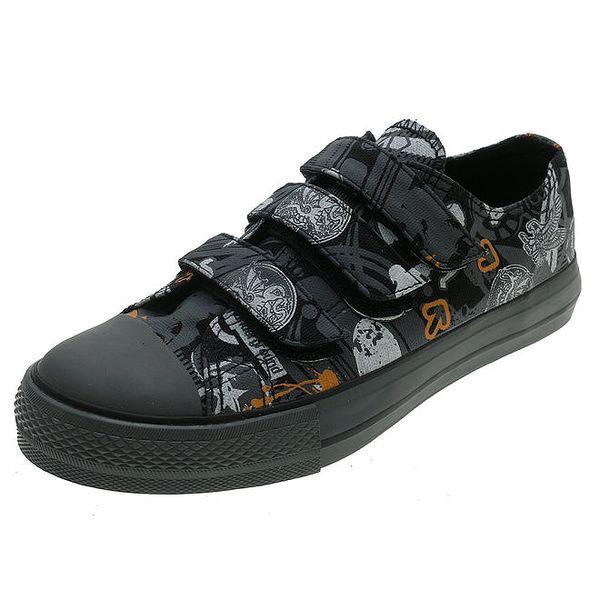 Dětské černé boty se vzorem Beppi