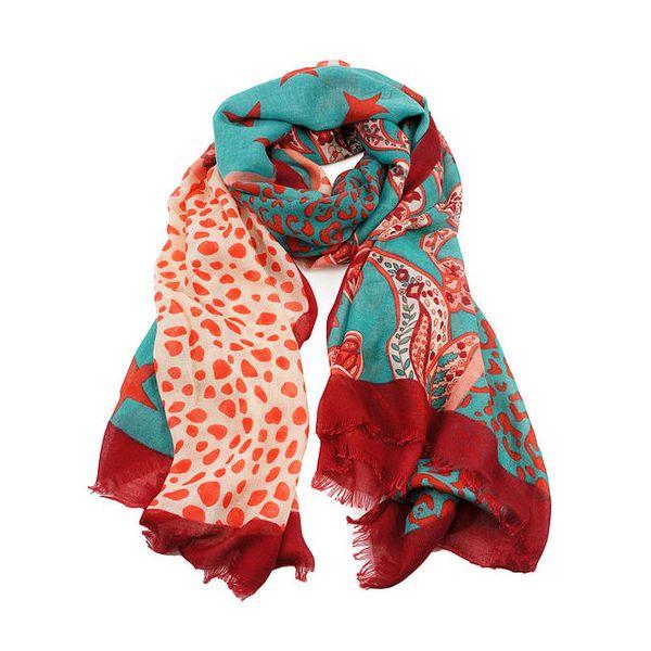 Dámský šátek v mátové barvě Invuu London