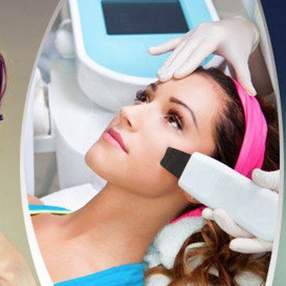 Letní hydratační ošetření pleti s využitím ultrazvukové špachtle a galvanického přístroje