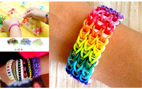 Loom Bands Colorful - duhové silikonové náramky s poštovným v ceně