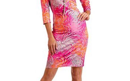 Šaty, růžová, oranžová