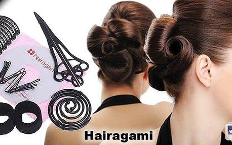 Domácí vlasové studio Hairagami! S domácím vlasovým studiem vykouzlíte během chvilky dokonalý účes i bez kadeřníka. Díky příslušenství je možné vytvořit nespočet variant účesů.