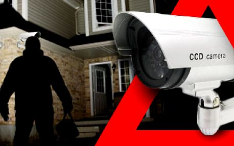 Atrapa bezpečnostní kamery s blikající LED diodou: k nerozeznání od pravé!