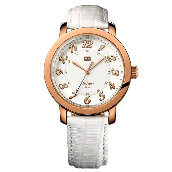 Dámské světlé pozlacené hodinky Tommy Hilfiger