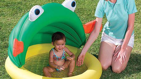 Nafukovací baby bazének se stříškou - žába