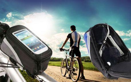 VODĚODOLNÉ POUZDRO NA KOLO za 285 Kč VČETNĚ POŠTOVNÉHO! Držák na kolo je jedinečný, neboť chrání telefon před poškrábáním, prachem a deštěm! Budete mít svůj telefon stále na očích, takže ho můžete využít i jako navigaci!