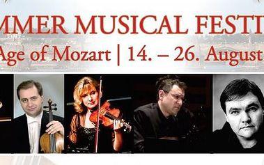 Vstupenky na Mezinárodní Hudební Akademie a Letní Hudební Festival! Age of Mozart