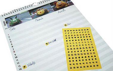 Kreativní plánovací rodinný kalendář A4 nebo A3