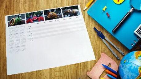 Stolní lepený kalendář pro školáky s vlastními fotkami