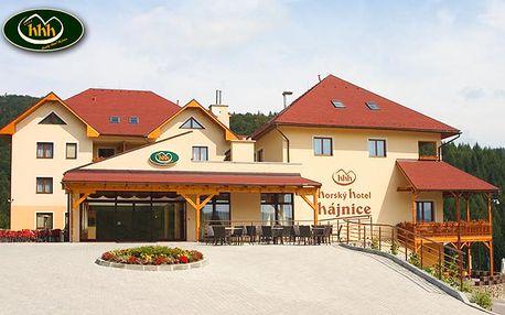 Horský Hotelu Hájnice**** na Kysucích s polpenziou a wellness