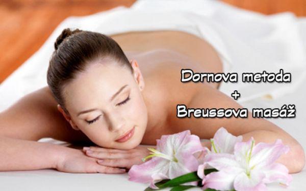 90 min. DORNOVY METODY a BREUSSOVY MASÁŽE včetně zábalu! Účinná kombinace léčivých masáží pro trvalou úlevu od bolestí zad i kloubů! Příjemná relaxace u certifikované terapeutky s dlouhou praxí ve studiu Alternativa na Praze 10 ve Vršovicích!