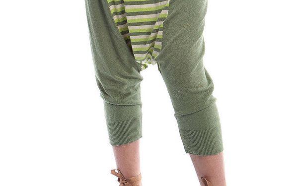 Dámské zelené kalhoty Cristian Lay