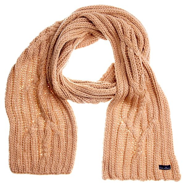 Dámská krémová pletená šála Fraas
