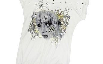 Dámské bílé tričko s potiskem Rock Angel