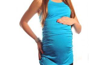 Těhotenský top - triko bez rukávů - Laura - Sky Blue 5071 - různé vel.