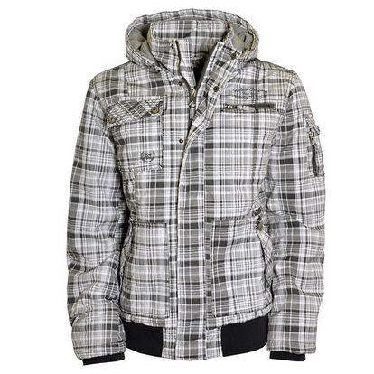 Pánská bílo-šedá bunda s kapucí Urban Surface