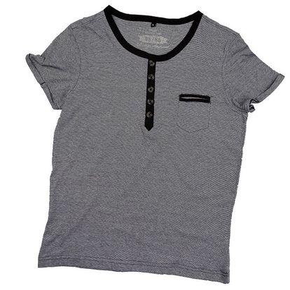 Pánské šedo-černé tričko s krátkým rukávem 98-86