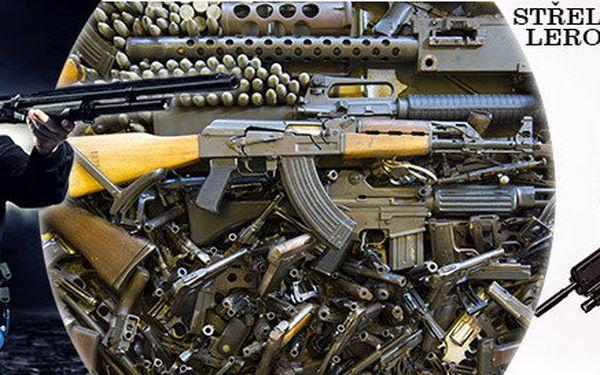 Střelba ze 4, 6 nebo 15 zbraní na střelnici!