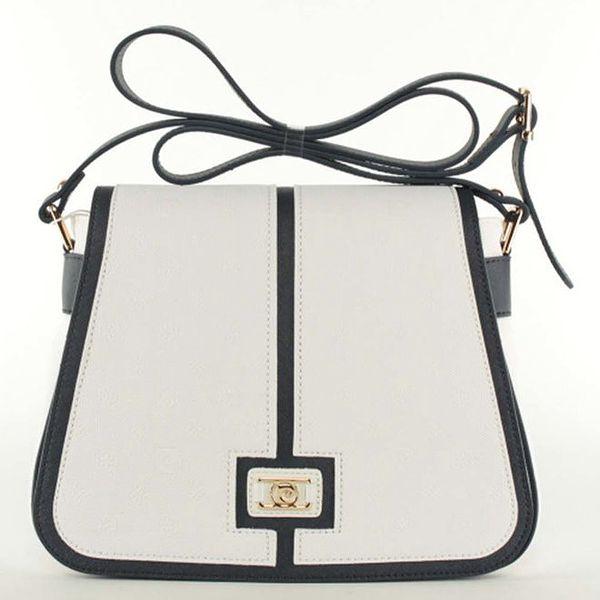 Dámská bílá kabelka s ramenním popruhem Pierre Cardin