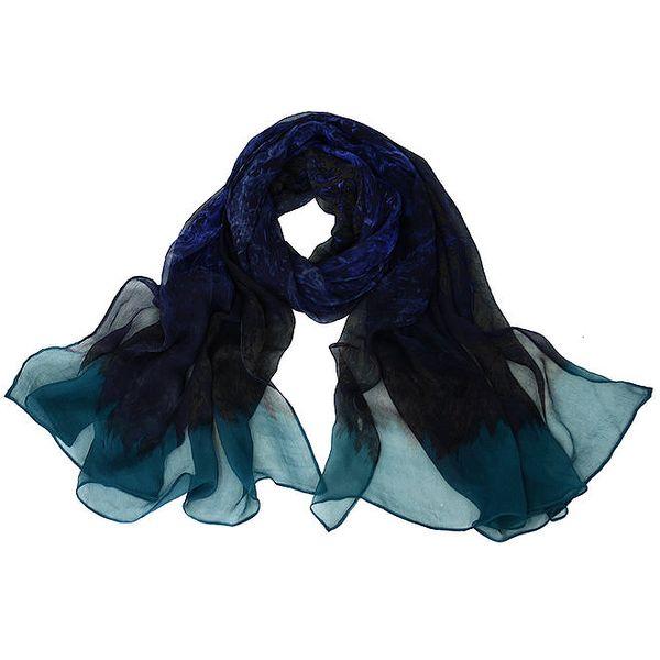 Dámský tmavý hedvábný šátek Giancarlo Bassi