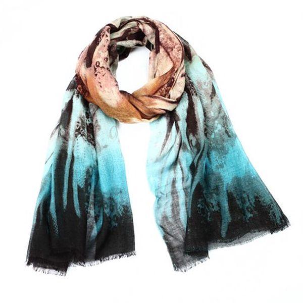 Dámský vzorovaný šátek s barevnými přechody Giancarlo Bassi