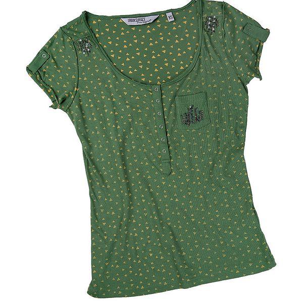 Dámské zelené tričko se vzorem Urban Surface