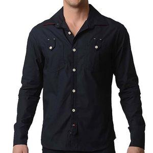 Pánská tmavě modrá košile RNT23