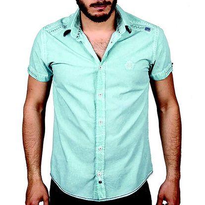 Pánská světle modrá košile s krátkým rukávem RNT23