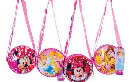Disney - kulatá kabelka přes rameno - princezny (1x blond, 1x hnědé vlasy)