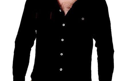 Pánská antracitová košile s dlouhým rukávem RNT23