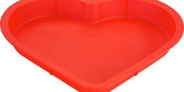Forma na pečení srdce silikonová 28 x 24,5 x 3cm KAISERHOFF KH-1165cerv