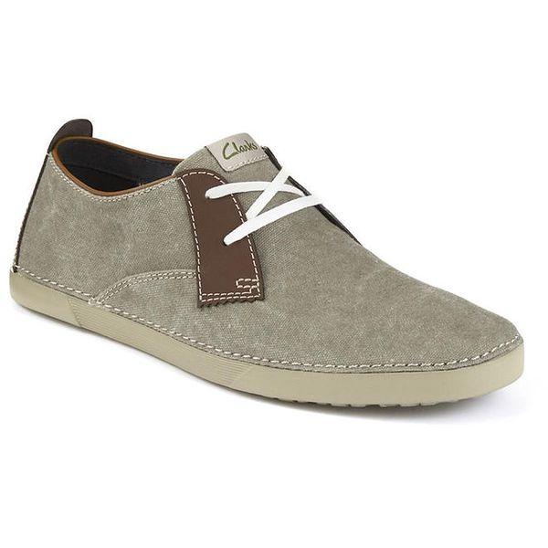 Pánské šedé semišové boty Clarks