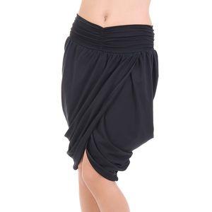 Dámská černá asymetrická sukně SforStyle