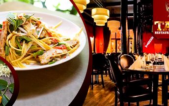 Thajský salát s mangem a limonáda pro dva