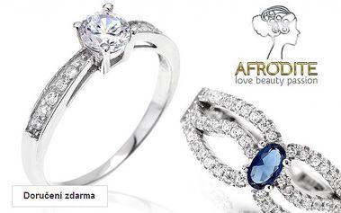 Dámské prsteny, přívěsky a náušnice se zirkony Afrodite