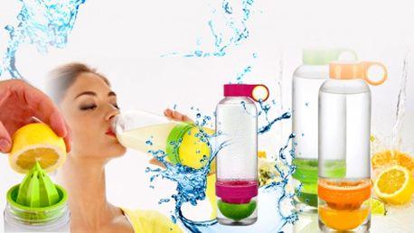Pravé osvěžení nejen v horkých letních dnech! Revoluční novinka, lahev CITRUSZINGER se zabudovaným odšťavňovačem! Pro všechny milovníky citronád, jen za 249 Kč!