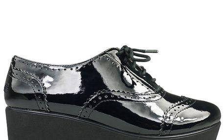 Dámské černé lakované boty na platformě Rock and Candy by Zigi