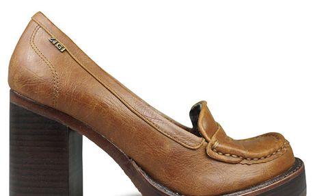Dámské hnědé boty na podpatku Rock and Candy by Zigi