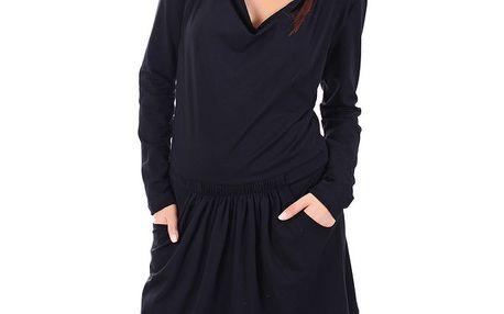 Dámské černé sportovní šaty s lebkou SforStyle