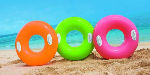 Nafukovací Kruh plovací s úchyty 97 cm - zelený