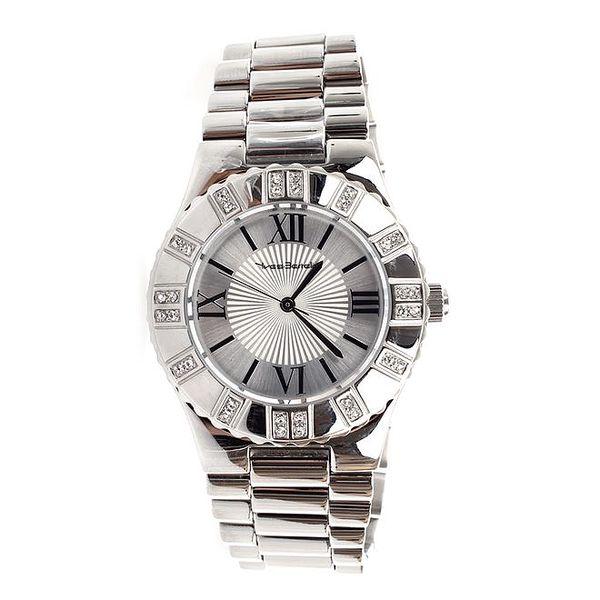 Dámské stříbrné hodinky s římskými číslicemi Yves Bertelin