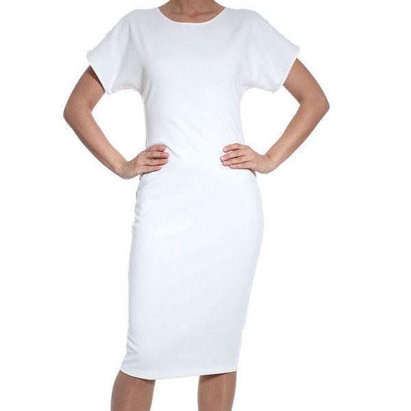 Dámské bílé šaty s krajkou SforStyle