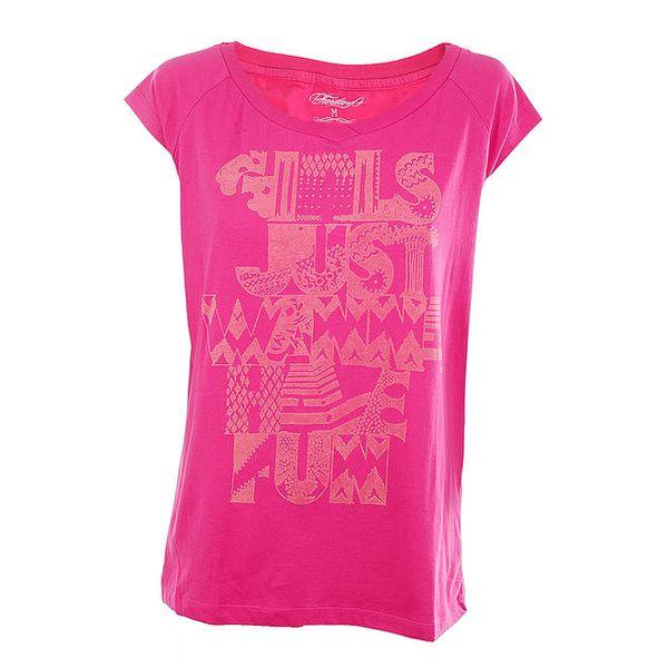 Dámské růžové tričko s potiskem Fundango